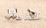 THE NUMBERS AND LETTERS AS A DESIGN FOR CUSTOM CUFFLINKS