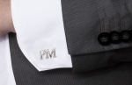 THE INITIALS OF OUR NAME ARE A NICE WAY TO PERSONALIZE OUR SILVER CUFFLINKS
