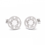 SILVER CUFFLINKS LAS VEGAS CASINO CHIP